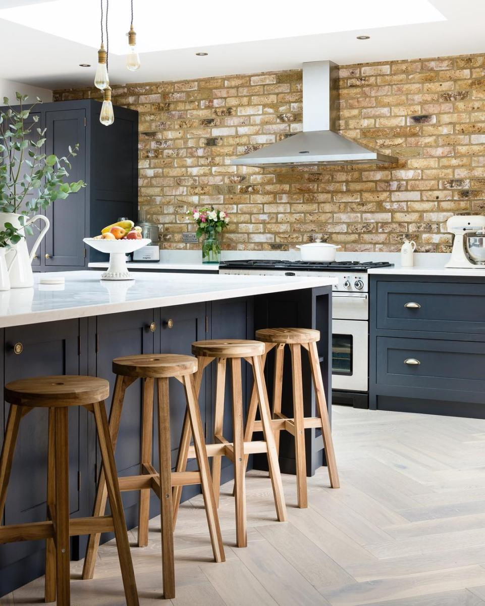 London Weathered Yellow Project residential Kitchen